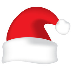 Red vector Santa hat