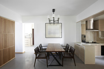 Clean and elegant home interior.dining room