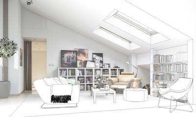 Dachgeschoss-Ausbau (Zeichnung)