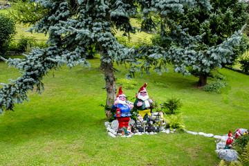 garden with Santa Claus