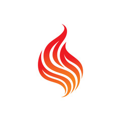 Fire - vector logo concept illustration. Flame logo sign. Dangerous sign. Fire lines vector illustration. Fire tattoo illustration. Flame tattoo illustration. Vector logo template. Design element.