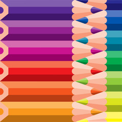 colored pencils on background - vector illustration