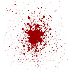 Vector red color splatter background. illustration vector