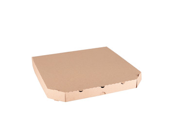 Pizza box isolated on a white