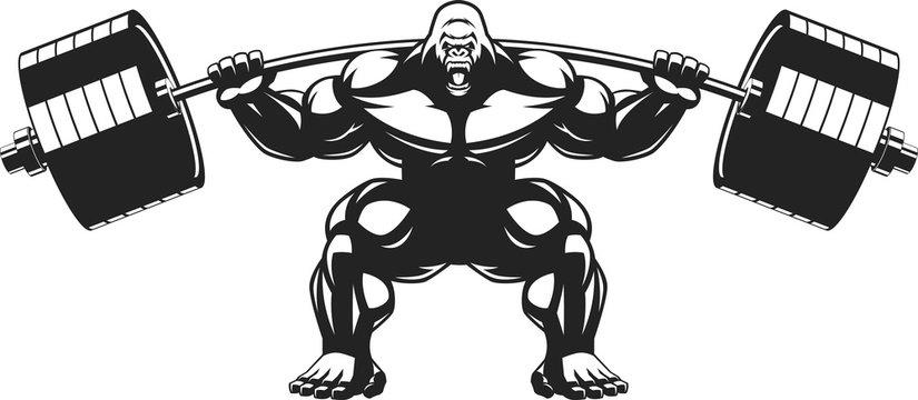 Strong monkey athlete
