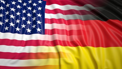 American and German flags