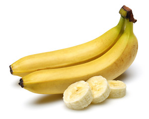 Banana with sliced banana