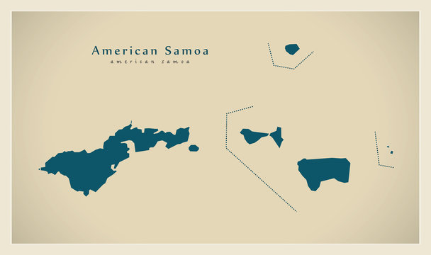 Modern Map - American Samoa AS