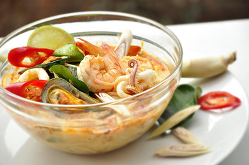 Tom Yum Kung thai food