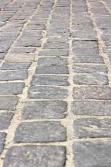 stone tiles on pedestrian pathway