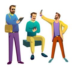 Three fashionable guys