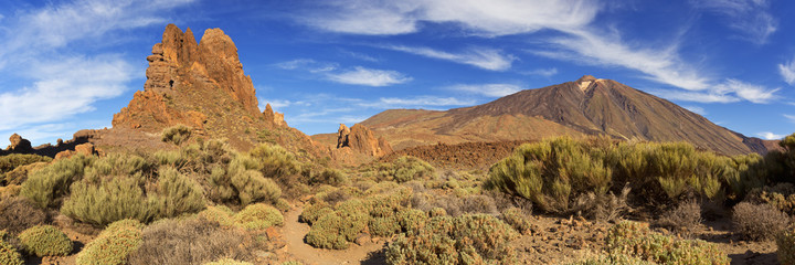 Rock formations in the Teide National Park on Tenerife