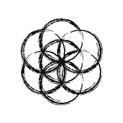 Flower of Life, vector.