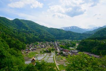 Historic Village of Shirakawa-go in spring