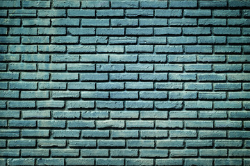 Blue brick wall texture background