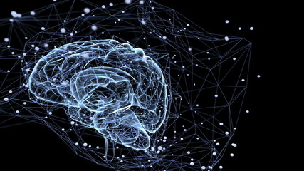 Wall Mural - Neuronal connections . Seamless loopable animation