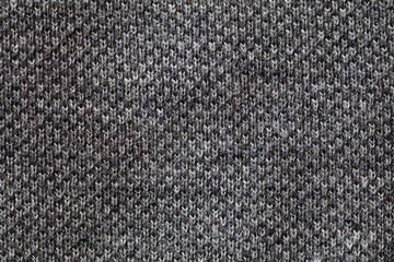 Detail of Black fabric texture and background seamless..
