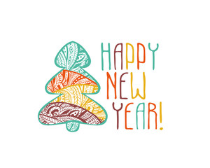 Happy New Year congratulation card.