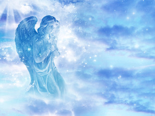 mystical angel in sky Wall mural