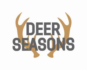 Vector deer antler logo