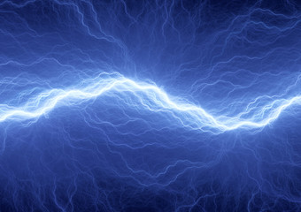Electric lighting, abstract blue storm