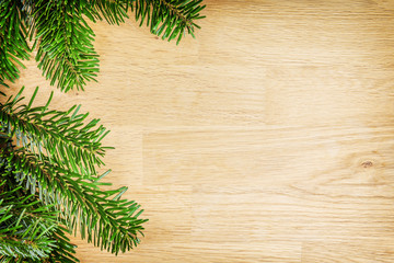 branches on wooden background