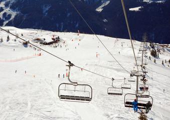 Vue sur une piste de ski
