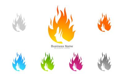 fire, flame, spa, hair, beauty , vector logo design,