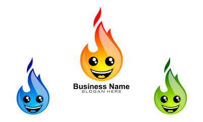 fire, flame, character, vector, logo design,