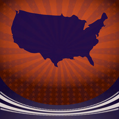 USA Map Election Campaign