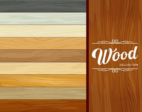 Vector Tile wood floor striped design background illustration