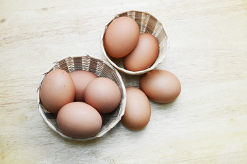 eggs in basket for cook