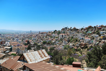 Antananarivo: view of the city from height