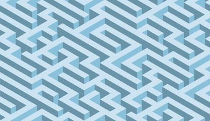 The maze, blue labyrinth - endless