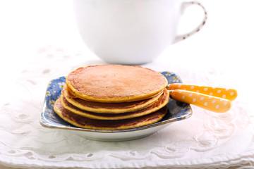 Pile of pumpkin pancakes
