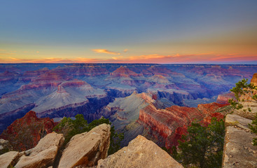 Grand Canyon, Sonnenuntergang bei Mohave Point