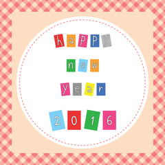 Happy new year 2016 greeting card5