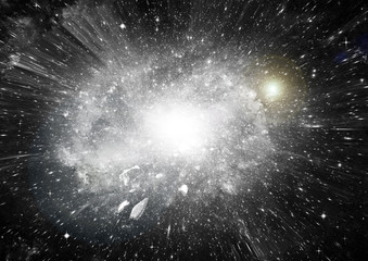 Stars, dust and gas nebula