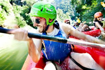 rafting excitement