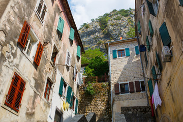 View on old town of Kotor UNESCO twon in Montenegro.