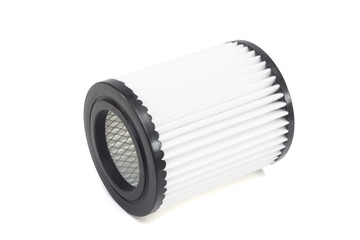 round engine air filter on a white background
