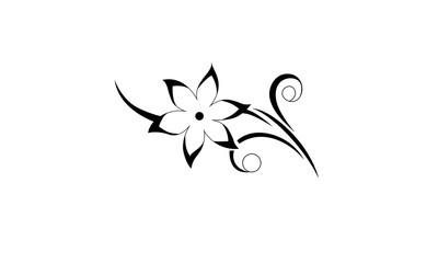 abstract black flower design