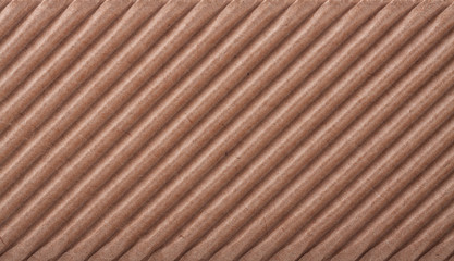 Closeup of cardboard texture