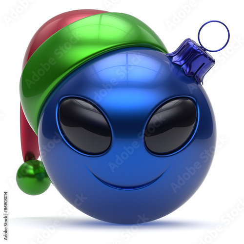 Smile Toys And Joys : Quot emoticon christmas ball smiley alien face happy new year