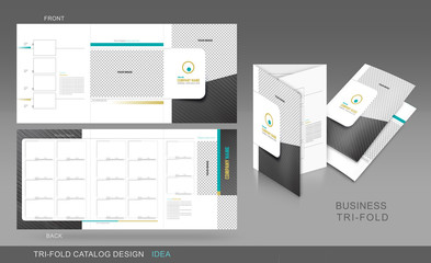 Professional trifold catalogue concept
