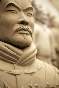 Terracotta warrior detail