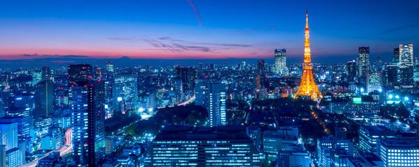 Spoed Fotobehang Tokio Tokyo Tower, Tokyo, Japan