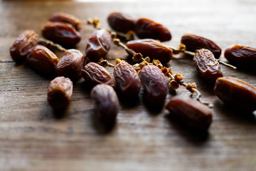 still life of dates, typical arabic food
