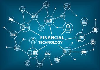 Financial Technology (Fin-Tech) concept as vector illustration background
