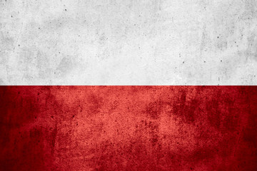 flag of Poland Wall mural